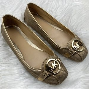 Michael Kors | Fulton Gold Leather Loafer Flats